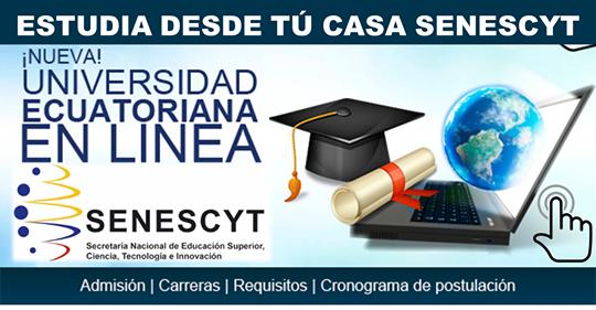 Nuevas Universidades en línea desde casa (a DISTANCIA) SENESCYT