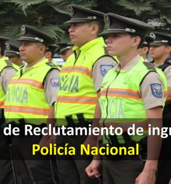 Reclutamiento de ingreso a la Policía Nacional