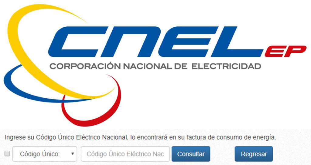 Consultar planilla de luz de CNEL EP